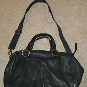Cynthia Rowley Black Genuine Leather Handbag